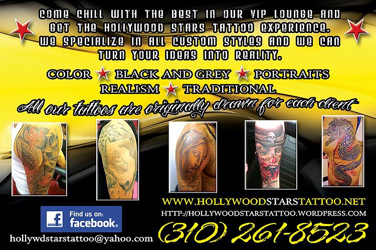 World Wide Hollywood Stars Tattoo