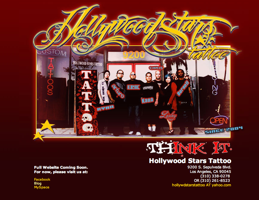 "Rapper ""Tyga"" gets his tattoos at the original Hollywood Stars Tattoos"