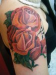 roses tattoo free hand