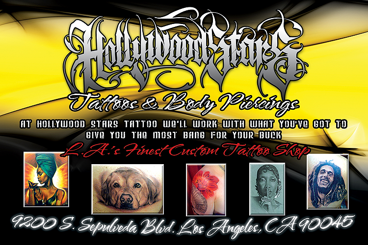 World wide Hollywood Stars Tattoo