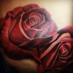 roses, on ,hip,tattoo