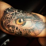 custom ,eye, tattoo,