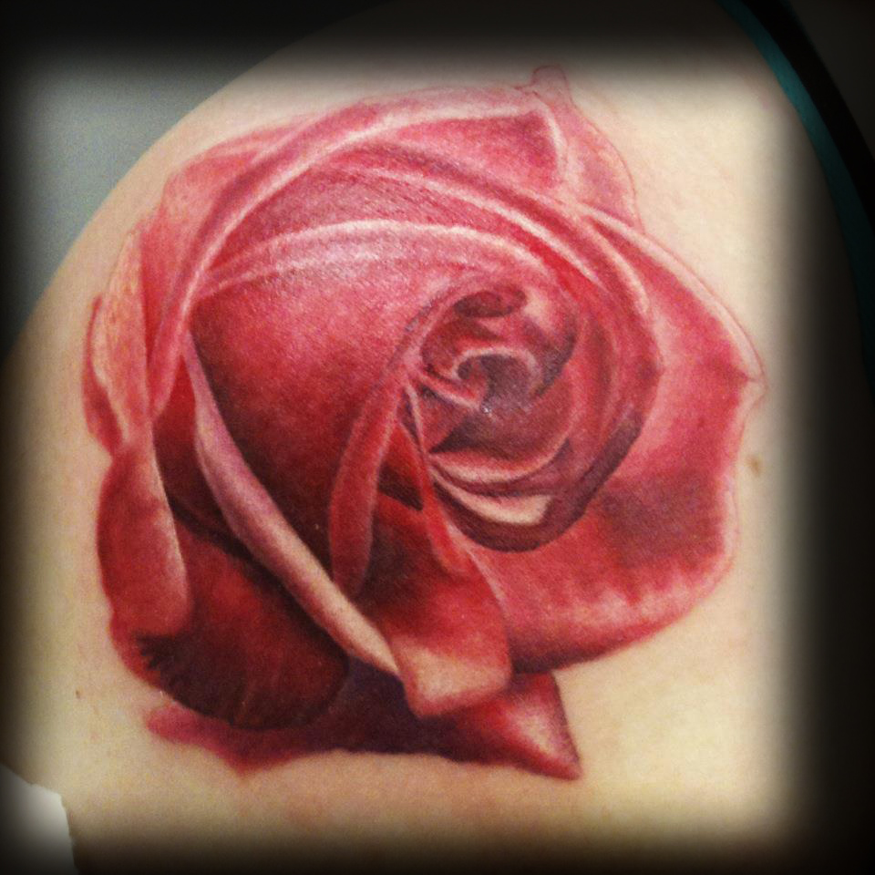 realistic rose tattoo | Hollywoodstarstattoo's Blog