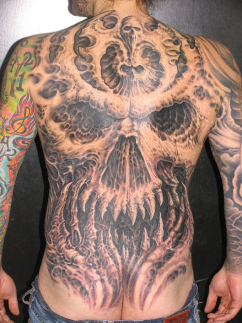 Tattoo sleeves hollywoodstarstattoo 39 s blog for Full head tattoo