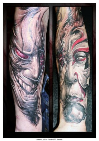 Evil Tattoos on Tattoos   The Greatest From Around The World    Freehand Evil Tattoos
